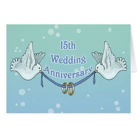 15th Wedding Anniversary Gifts Cards   Zazzle