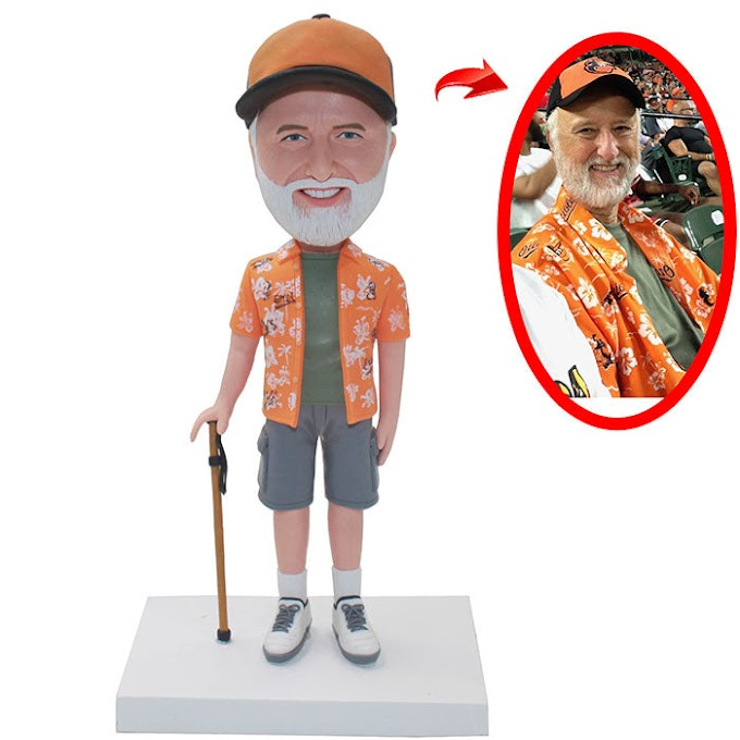 Custom Fahter Bobbleheads Funny Gift For 80 Year Old Man