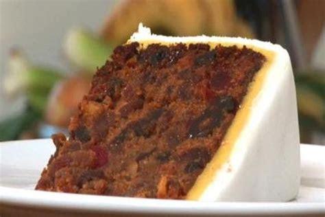 rich traditional british fruit cake  fondant  marzipan