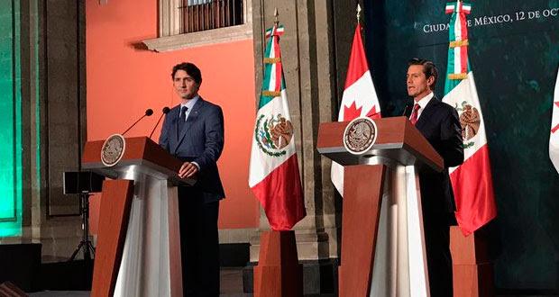 EPN recibe a Trudeau