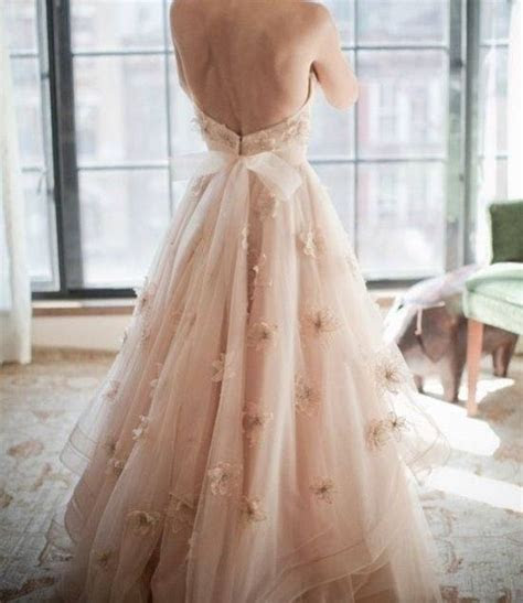 Blush pink wedding dress   Say yes to the dress