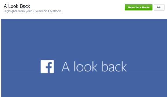 facebook olhar para trás edição