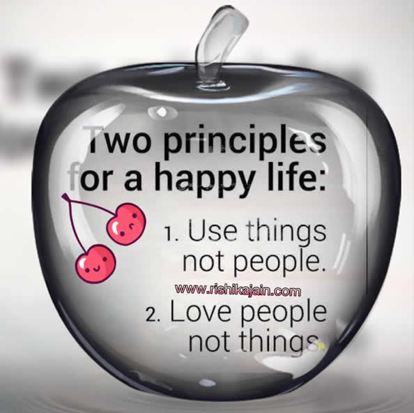 Two Principles For A Happy Life Inspirational Quotes Pictures