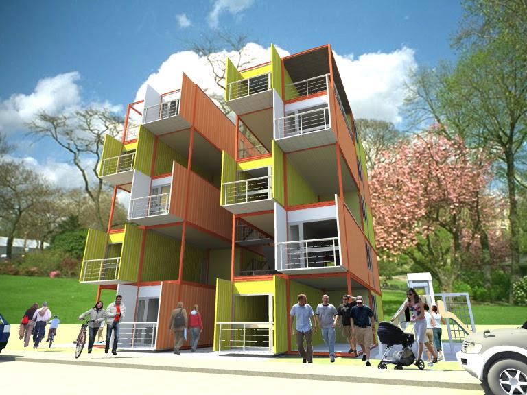 Vivienda colectiva vivienda social en contenedores arqydis tecno haus - Viviendas de contenedores ...