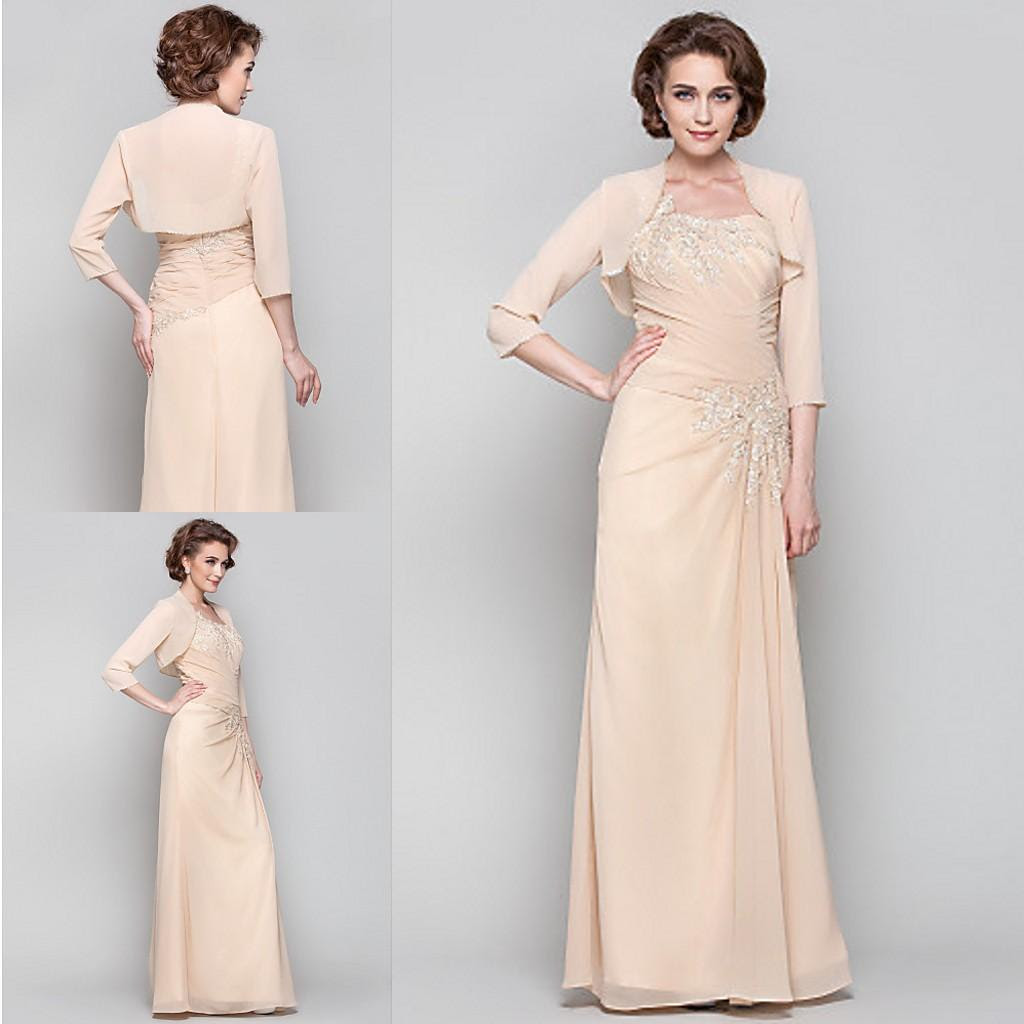 2015 champagne chiffon cheap mother of the bridesmaid