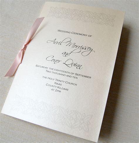 Unique Wedding Invitations : Ceremony Booklet