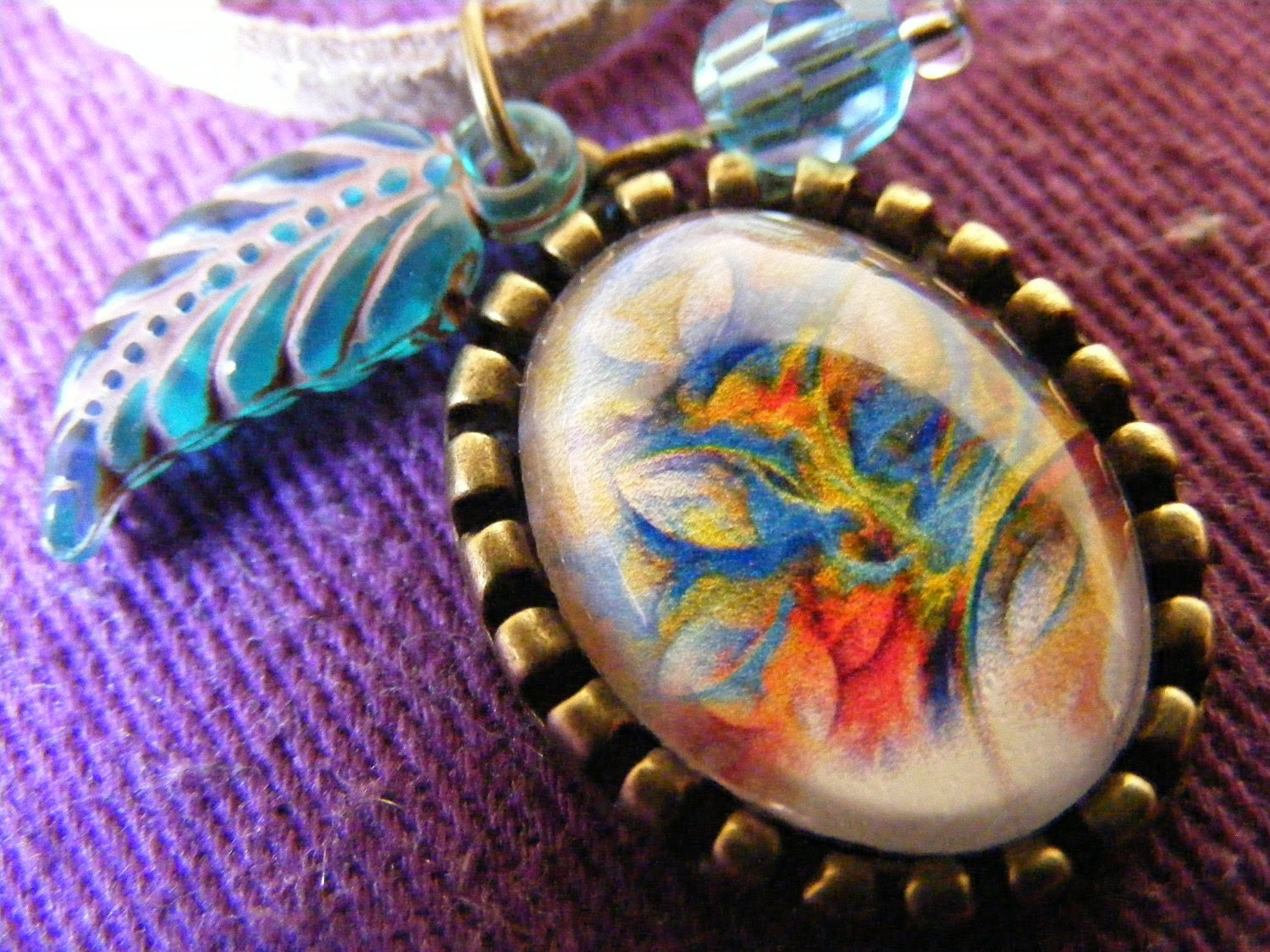 Long Necklace Charming Peacock
