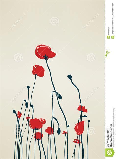 Vintage Poppy stock photo. Image of elegance, chic, line