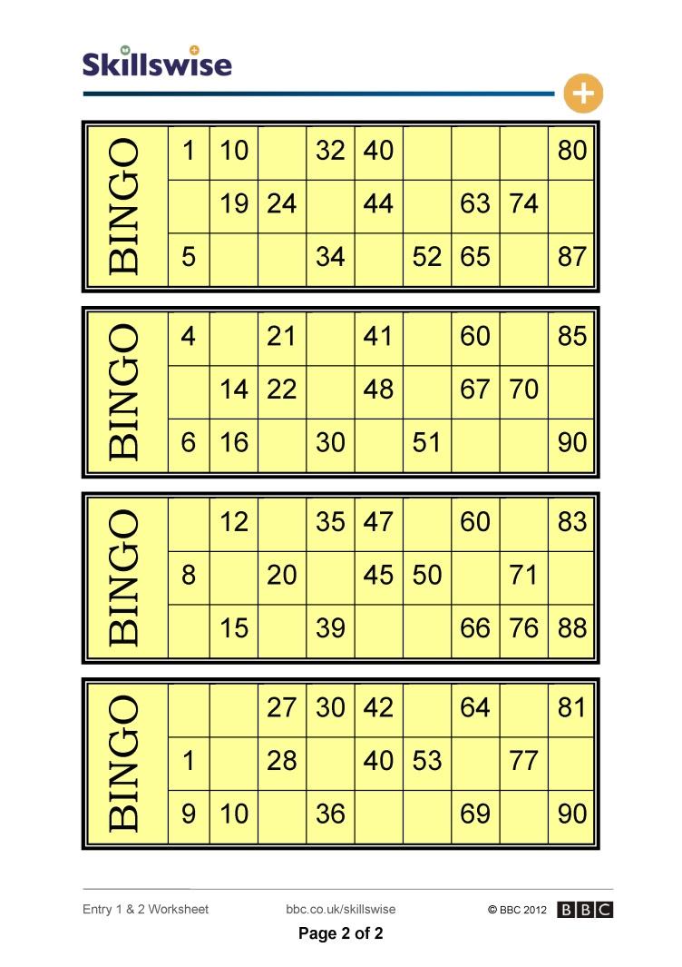 Make bingo card