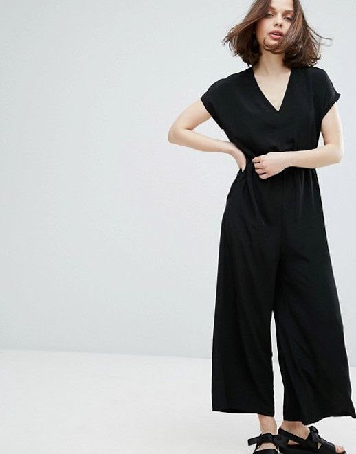 Le Fashion Blog Under $100 Wide Leg Black Jumpsuit Monki Via Asos