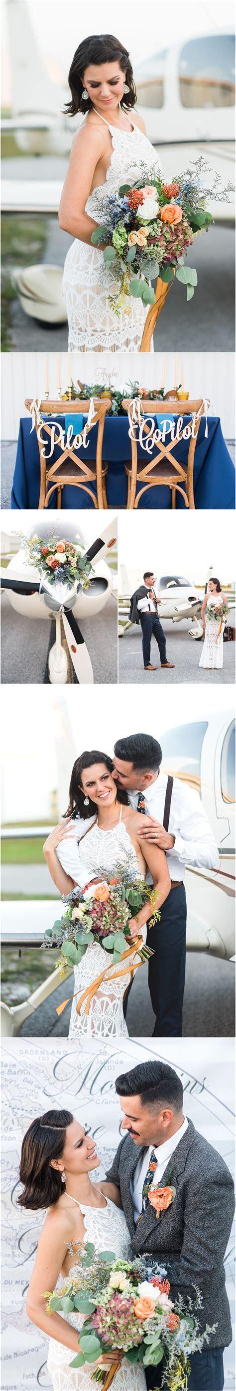 70's Inspired Aviation Wedding   Lisa Marshall Photography