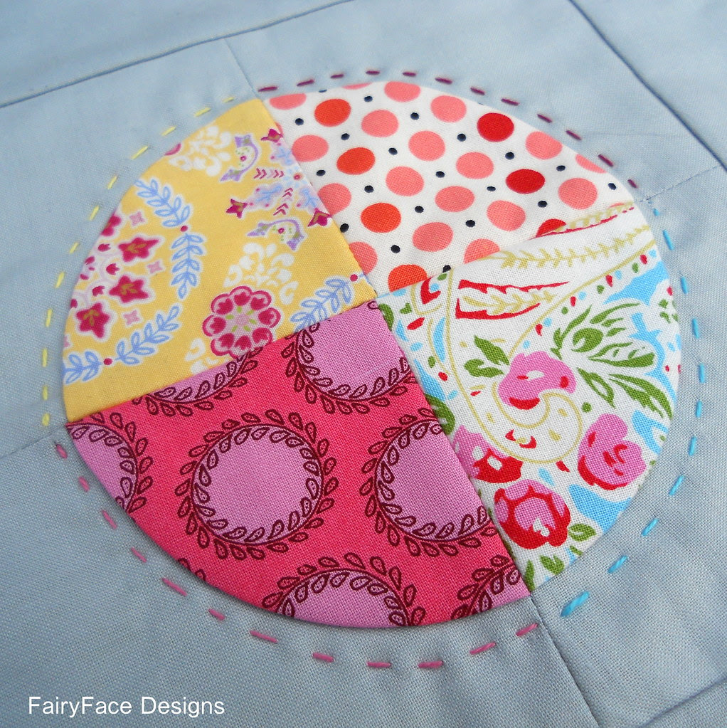 Centre of back of doll quilt