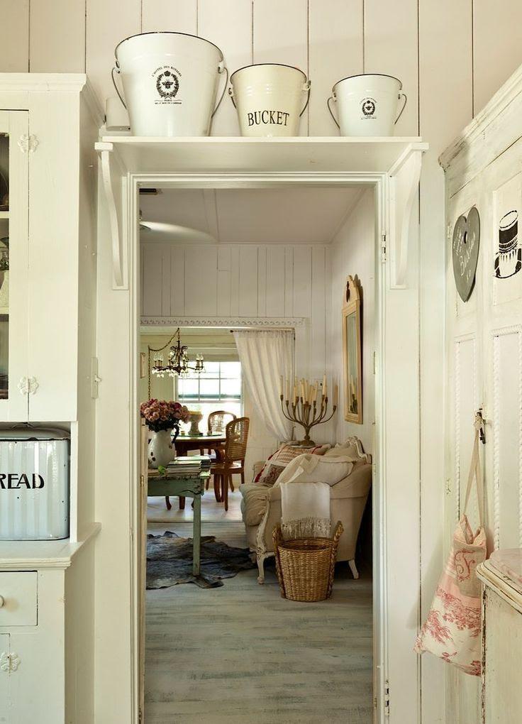 Kitchen Door Shelf Whitewashed Cottage chippy shabby chic French country rustic swedish decor idea