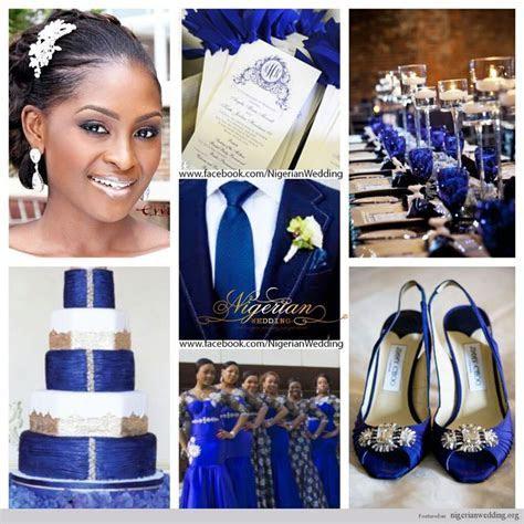 nigerian wedding cobalt blue, white and silver wedding