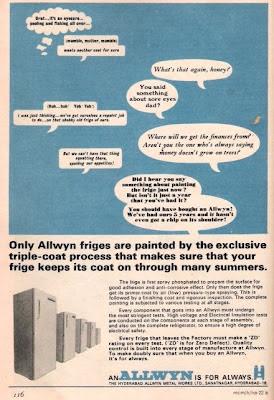 Old Ad of Allwyn Fridge