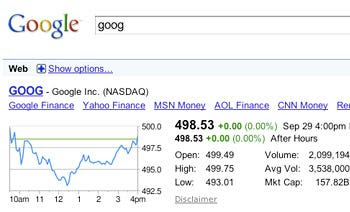 Google Changes StockQuote Searches  Business Insider