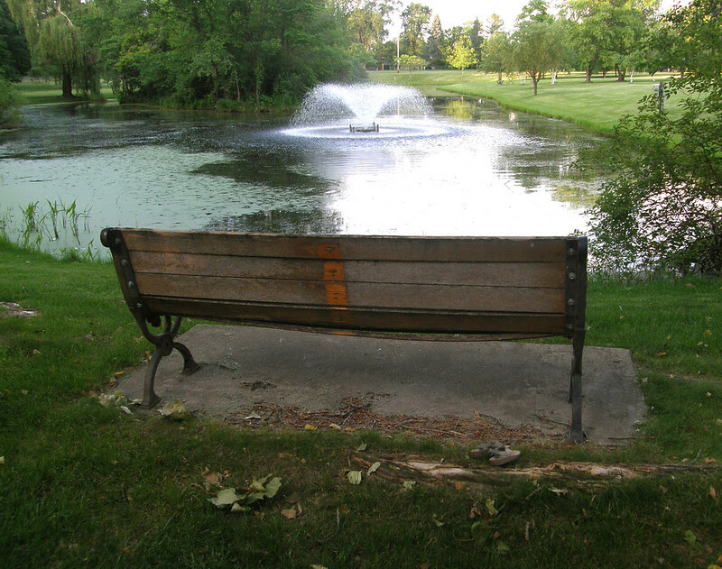 Thorpe Park bench revisited