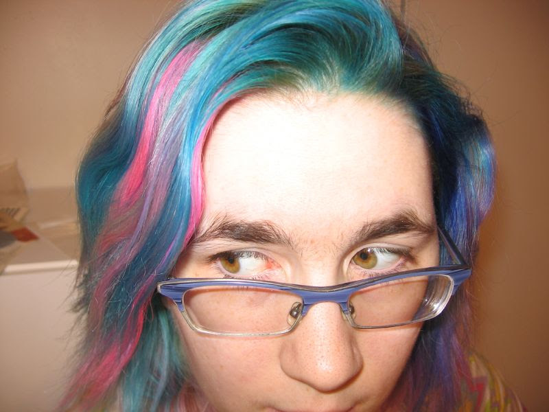 black and electric blue hairstyles. jet black with electric blue highlights soon Here is my natural hair. Scene