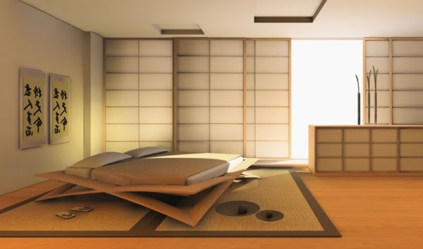classic japanese bedroom design image - Japanese Bedroom