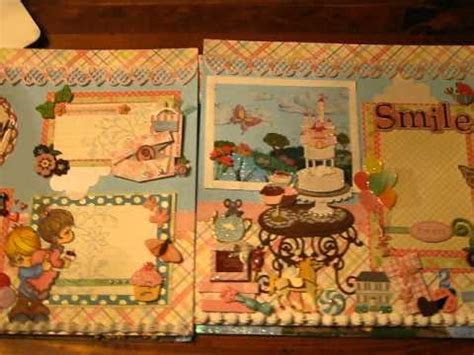 Tear Bear layouts 12x12 premade scrapbook pages, Birthday