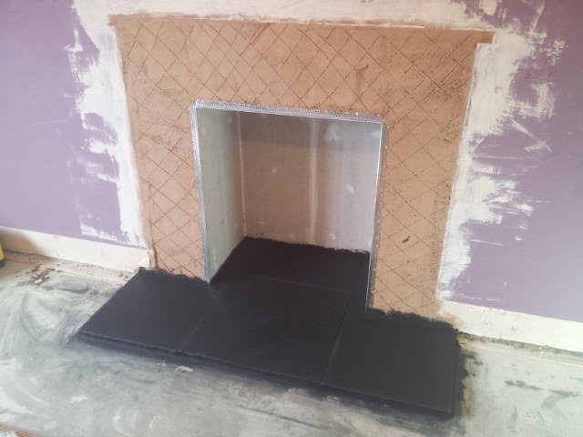 Building A Hearth For A Wood Burning Stove Simple Slate Inexpensive