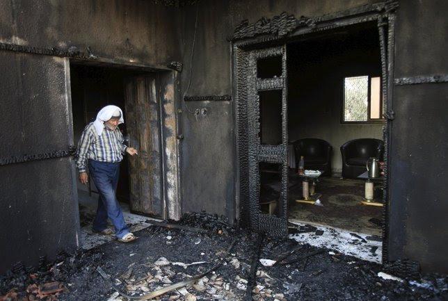 Muere un bebé palestino al ser incendiada su vivienda