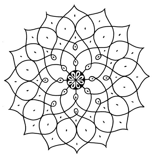 Indian Designs h - Lotus (symbol)