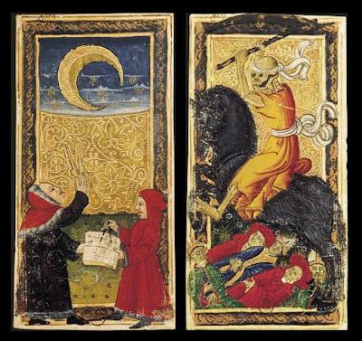 Tarot Cards - La Lune and La Mort