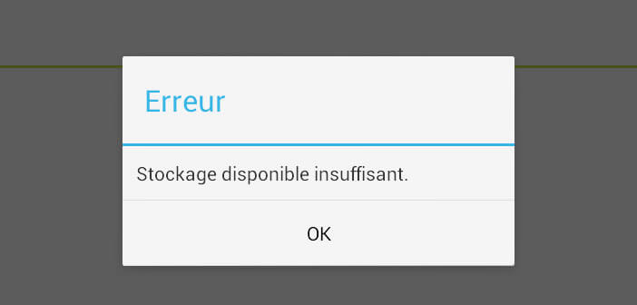insufficient storage available
