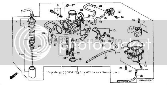 honda foreman 400 carburetor diagram