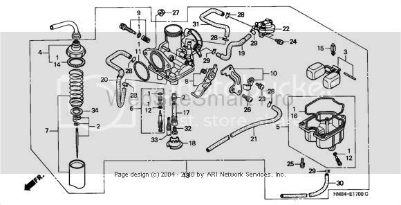 honda foreman 400 carburetor diagram