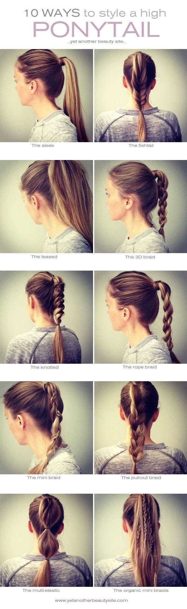 10 ways to style a high ponytail #Hairstyle