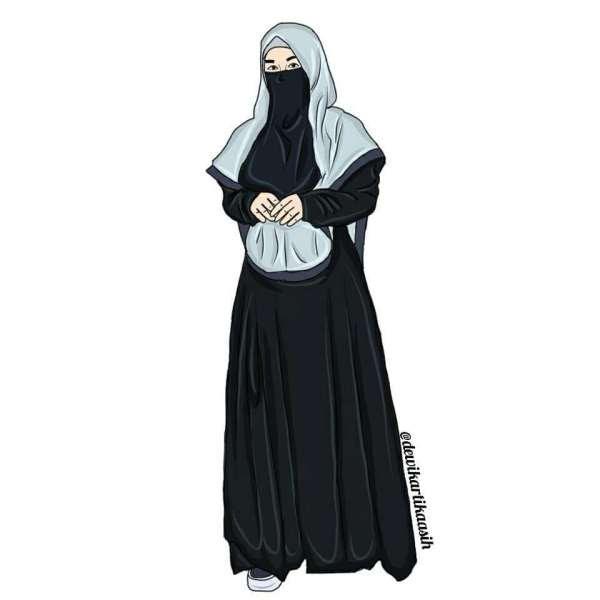 Gambar Kartun Muslimah Yang Bercadar Yazdaadu