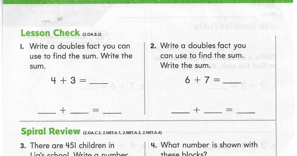 Go Math Lesson 9 1 5th Grade Answers