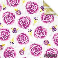 Лист бумаги для скрапбукинга от Lemon Owl - Plans for Today, Flower Garden, 30x30 - ScrapUA.com