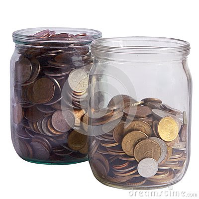 heplful jars of coins