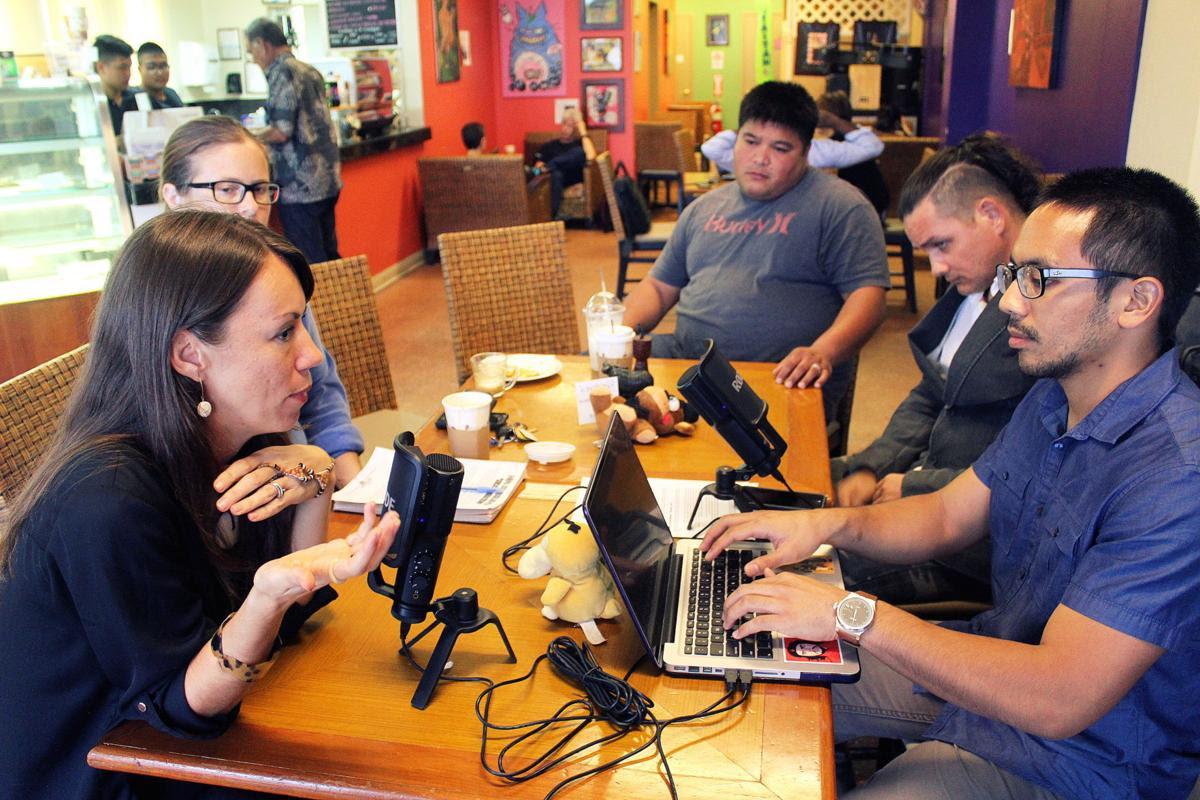 Victoria Leon Guerrero speaks to host Manny Cruz