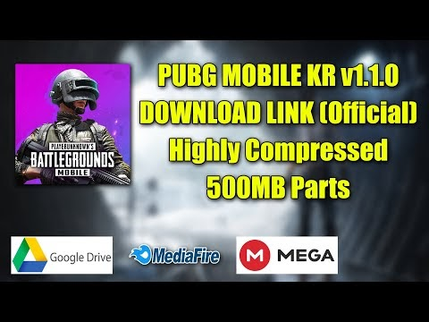 [OFFICIAL] PUBG MOBILE KR v1.1.0 DOWNLOAD LINK Highly Compressed 500MB P...