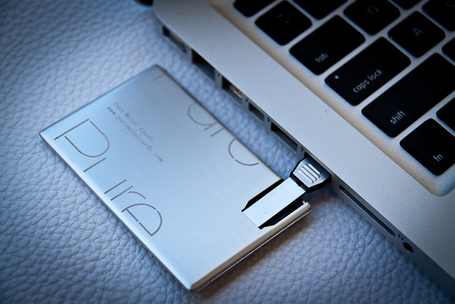 USB Metal Business Card by Pure Metal Cards