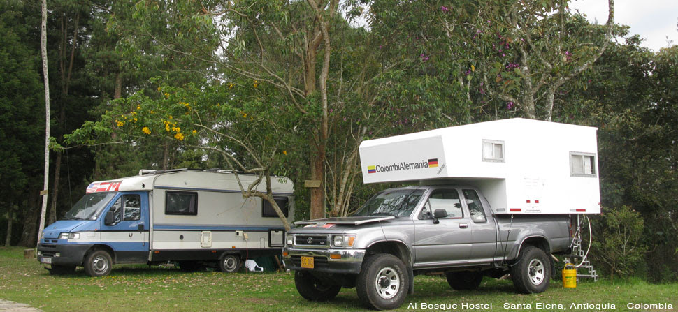 Al Bosque Hostel overlander parking