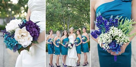 17 Best images about Purple and teal Wedding Bouquets on
