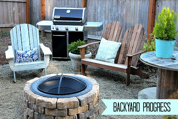 Easy DIY Firepit {Progress on the Fall Backyard Makeover Project ...