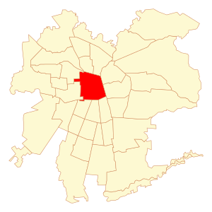Español: Mapa de la comuna de Santiago, en San...