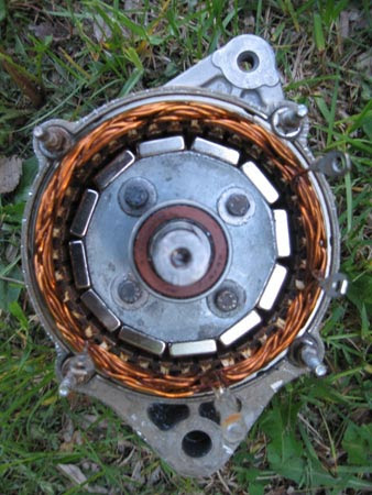 Toyota based permanent magnet alternator