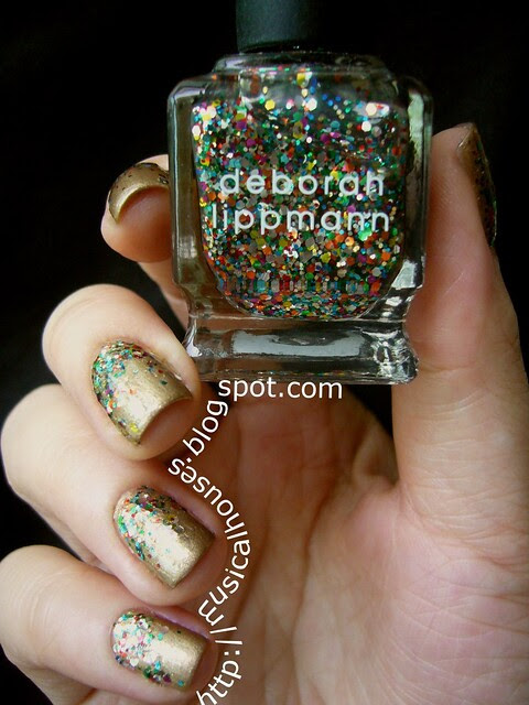 Gold and Glitter Libertine Fashion Week inspired manicure 2