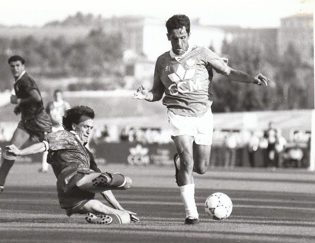 Pedro Díaz en el partido del ascenso a Segunda División C.D. Toledo-Real Jaén temporada 1992/93 © Fotografía de Carlos Monroy