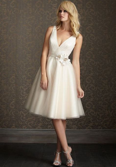 short wedding dresses for older brides   Shorter and