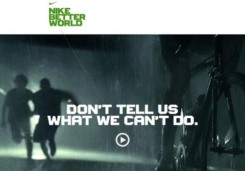 40 diseños web muy creativos - nike better world