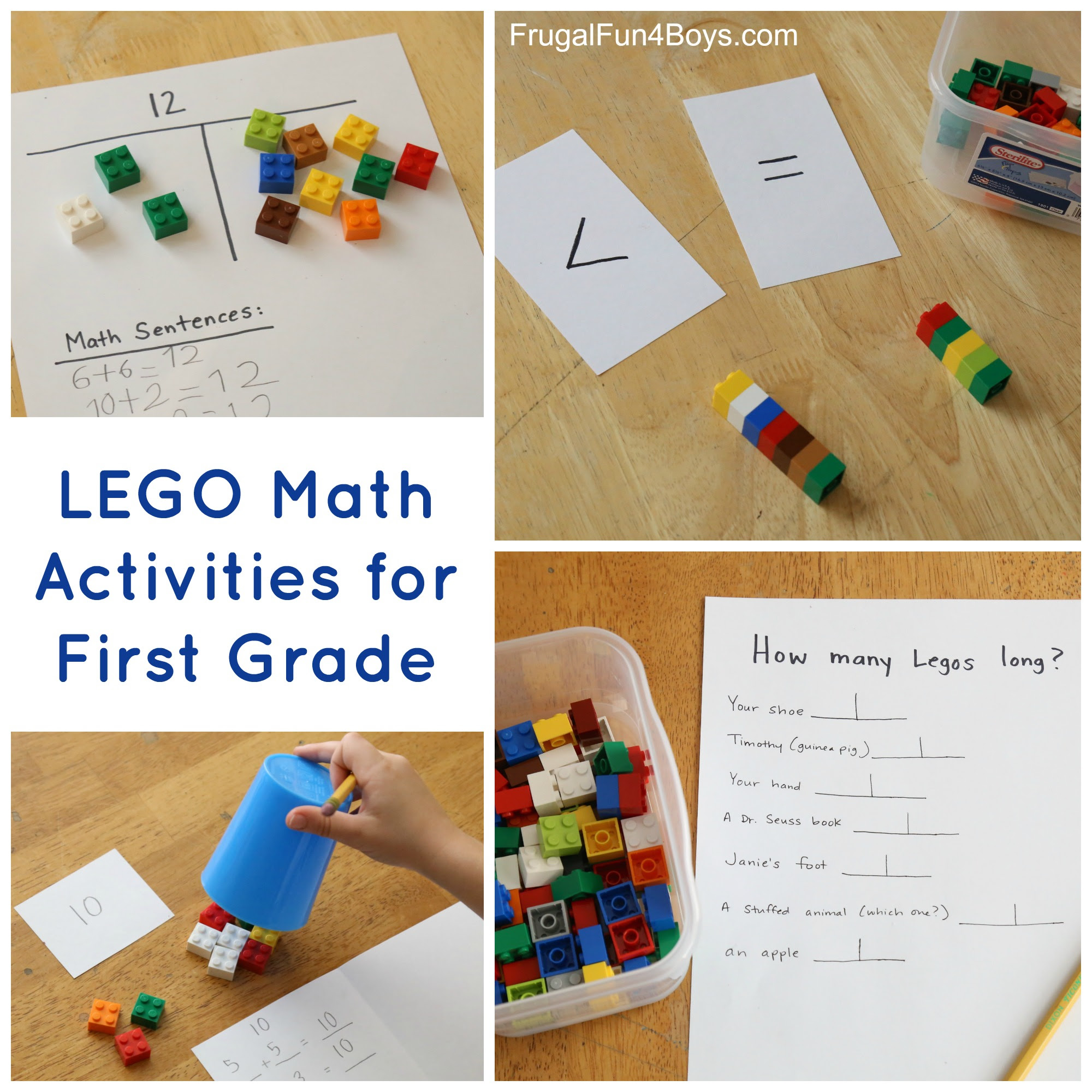 LEGO Activities For First Grade Math Frugal Fun For Boys