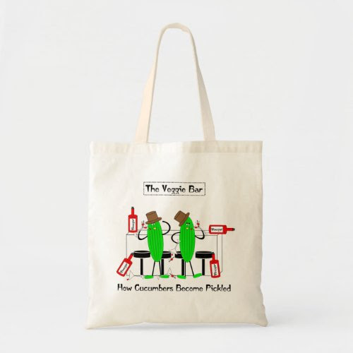 Funny Pickled Cucumbers Tote Bag